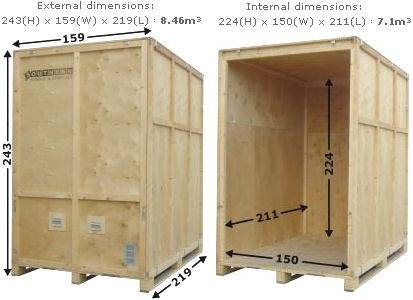 Brunels Storage Container Size